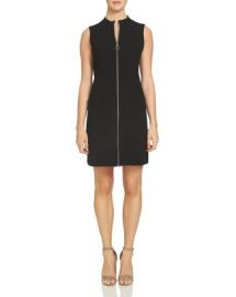 1 STATE Mock Neck Zip Front Shift Dress at Bloomingdales