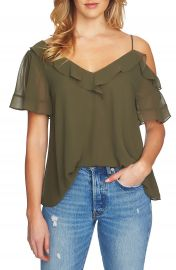 1 STATE Ruffle Asymmetrical Top at Nordstrom