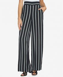 1 STATE Striped Wide-Leg Pants at Macys