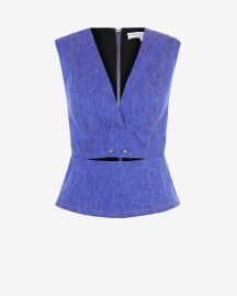 10 Crosby by Derek Lam Studded Denim Top at Intermix
