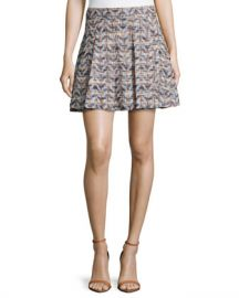 10 Crosby by Derek Lam Waxed Chevron Skirt at Last Call