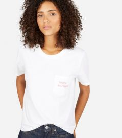 100 Percent Human Tee in White at Everlane