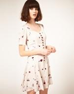 Cherry print dress at Asos