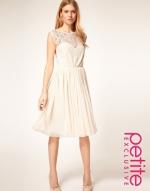 Cream lace dress at Asos