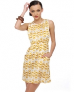 Butterfly print dress at Lulus