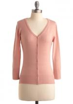 Light pink cardigan at Modcloth