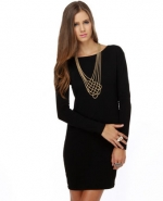 Simple black dress at Lulus