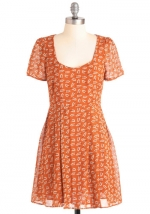 Orange dress at Modcloth