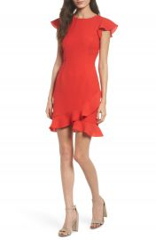 19 Cooper Ruffle Edge Sheath Dress at Nordstrom