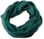 Green knit scarf at Amazon