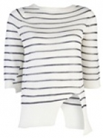Stripe crew neck sweater by A.L.C at Farfetch