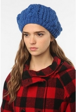 BDG cable knit beret at Urban Outfitters