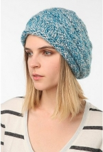 Blue knit beret at Urban Outfitters