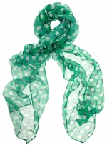 Green apple print scarf at Dorothy Perkins