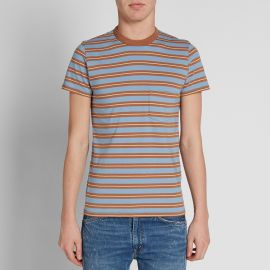 1960s Casual Stripe Tee in Brown at Union Made Goods