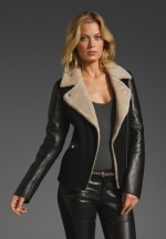 Leather jacket with wool lining like Alexs at Revolve