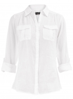White long sleeve blouse at Dorothy Perkins