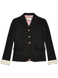 2 300 Gucci Silk Single-breasted Jacket - Buy Online - Fast Delivery  Price  Photo at Farfetch