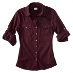 Burgundy button down top like Pennys at Target