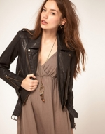 Black leather jacket like Brittas at Asos