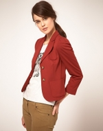 Rust coloured blazer like on Hart of Dixie at Asos