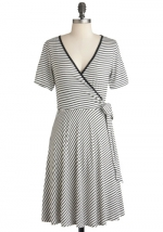 Stripe wrap dress at Modcloth