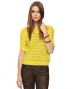 Yellow striped sweater at Forever 21