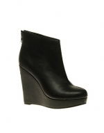 Black wedged ankle boots at Asos
