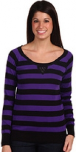 Striped purple sweater like Amy's at 6pm