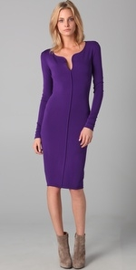 dsquared2 long sleeve purple dress at Shopbop