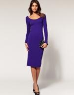 Purple long sleeve dress like on Happy Endings at Asos