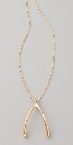 Gold wishbone necklace at Shopbop