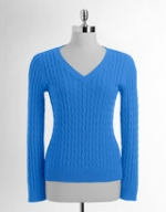Blue textured sweater like Penny's at Lord & Taylor