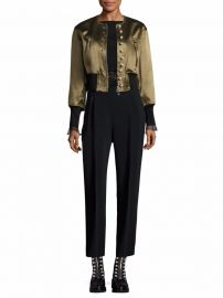 3 1 Phillip Lim - Pearly Cropped Bomber Jacket at Saks Fifth Avenue