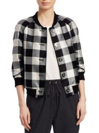 3.1 Phillip Lim Gingham Jacquard Bomber Jacket at Saks Fifth Avenue