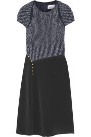 3 1 Phillip Lim   Boucl   and silk crepe de chine dress at Net A Porter