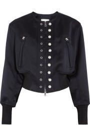 3 1 Phillip Lim   Faux pearl-embellished satin-jersey bomber jacket at Net A Porter