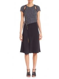 3 1 Phillip Lim - Textured Silk Blend Dress at Saks Off 5th