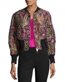 3 1 Phillip Lim Floral Jacquard Cloqu   Bomber Jacket  Multicolor at Neiman Marcus