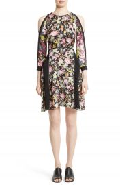 3 1 Phillip Lim Meadow Flower Print Silk Cold Shoulder Dress at Nordstrom