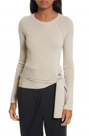 3 1 Phillip Lim Metallic Side Tie Sweater at Nordstrom