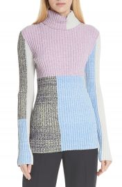 3 1 Phillip Lim Patchwork Ribbed Sweater at Nordstrom
