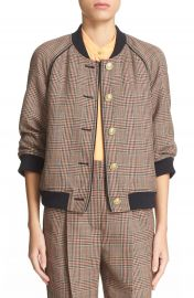 3 1 Phillip Lim Plaid Wool Bomber Jacket at Nordstrom