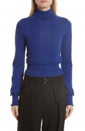 3 1 Phillip Lim Puffy Cable Turtleneck Sweater at Nordstrom