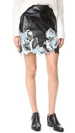3 1 Phillip Lim Vinyl Lace Skirt at Shopbop