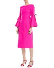 3 4 Flutter Sleeved Pencil Dress Oscar de la Renta at Bergdorf Goodman