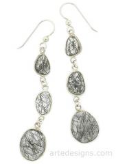 3 Stone Earrings at Arte Designs
