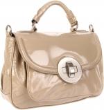 Beige patent leather handbag like Lemons at Endless