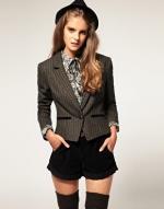 Grey tweed blazer like Zoes at Asos