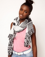 Black and white scarf like Zoes at Asos